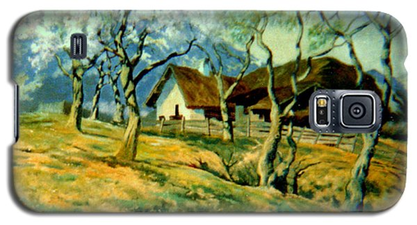 Galaxy S5 Case featuring the painting Spring In Poland by Henryk Gorecki