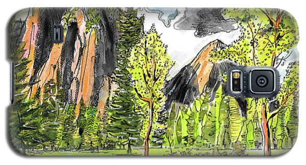 Galaxy S5 Case featuring the painting Spring In Yosemite by Terry Banderas