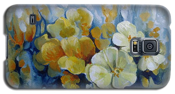 Galaxy S5 Case featuring the painting Spring Inflorescence by Elena Oleniuc