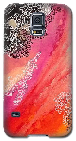 Galaxy S5 Case featuring the painting Squiggles And Wiggles #2 by Suzzanna Frank