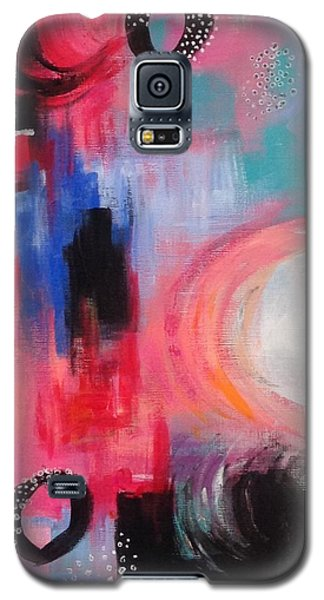 Galaxy S5 Case featuring the painting Squiggles And Wiggles #3 by Suzzanna Frank