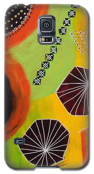 Galaxy S5 Case featuring the painting Squiggles And Wiggles #5 by Suzzanna Frank