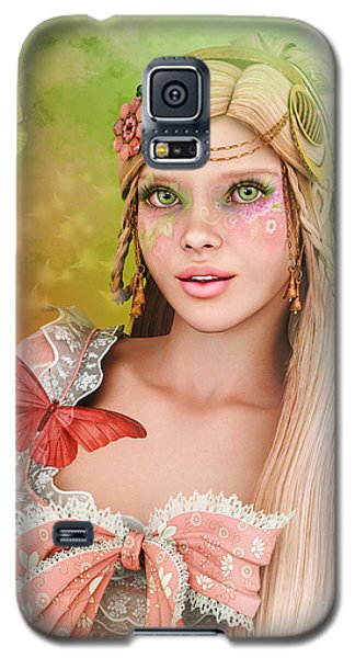 Galaxy S5 Case featuring the digital art Spring Is In The Air by Jutta Maria Pusl