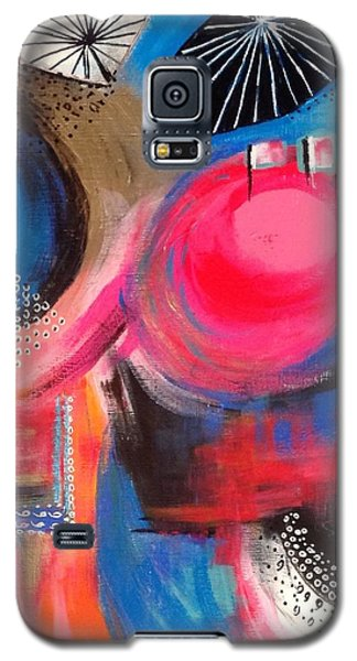 Galaxy S5 Case featuring the painting Squiggles And Wiggles #1 by Suzzanna Frank