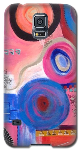 Galaxy S5 Case featuring the painting Squiggles And Wiggles  #9 by Suzzanna Frank