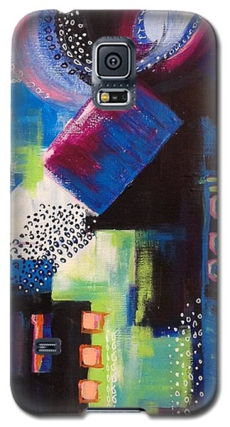 Galaxy S5 Case featuring the painting Squiggles And Wiggles #6 by Suzzanna Frank