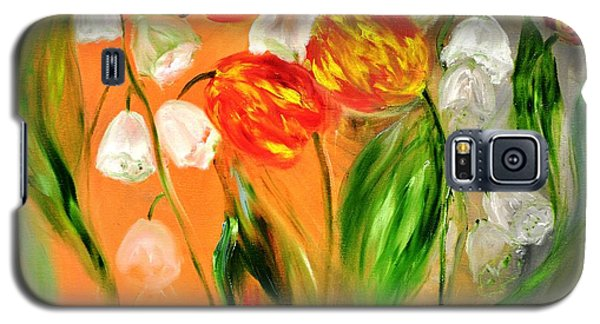 Galaxy S5 Case featuring the painting Spring Mood by Evelina Popilian