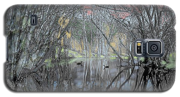 Galaxy S5 Case featuring the digital art Spring On The Backwater by John Selmer Sr