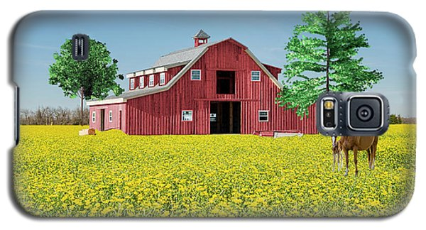 Galaxy S5 Case featuring the photograph Spring On The Farm by Bonnie Barry