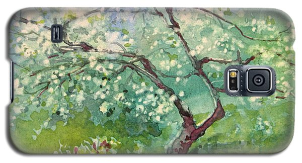 Galaxy S5 Case featuring the painting Spring Plum by Elizabeth Carr