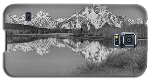 Spring Reflections At Oxbow Bend Black And White Galaxy S5 Case by Adam Jewell