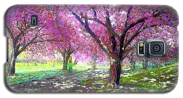 Dallas Galaxy S5 Case - Spring Rhapsody, Happiness And Cherry Blossom Trees by Jane Small
