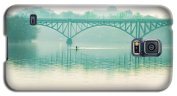 Galaxy S5 Case featuring the photograph Spring - Rowing Under The Strawberry Mansion Bridge by Bill Cannon