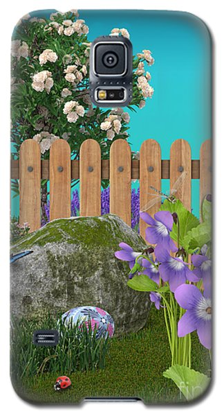 Galaxy S5 Case featuring the digital art Spring Scene by Mary Machare