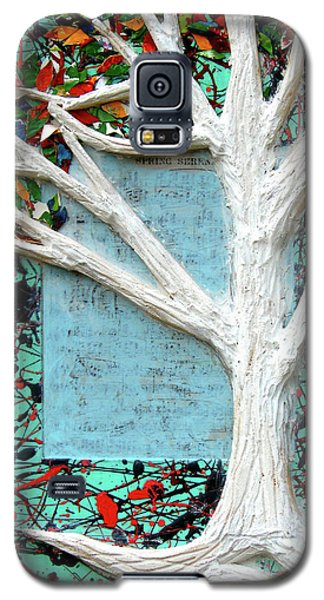 Galaxy S5 Case featuring the painting Spring Serenade With Tree by Genevieve Esson
