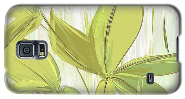 Spring Shades - Muted Green Art Galaxy S5 Case by Lourry Legarde