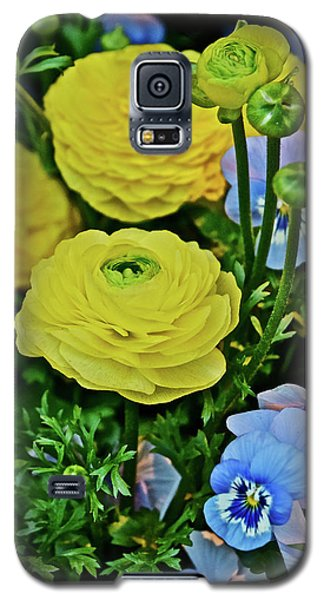 Spring Show 18 Persian Buttercup With Horned Viola Galaxy S5 Case