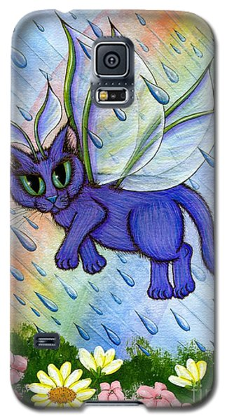 Galaxy S5 Case featuring the painting Spring Showers Fairy Cat by Carrie Hawks