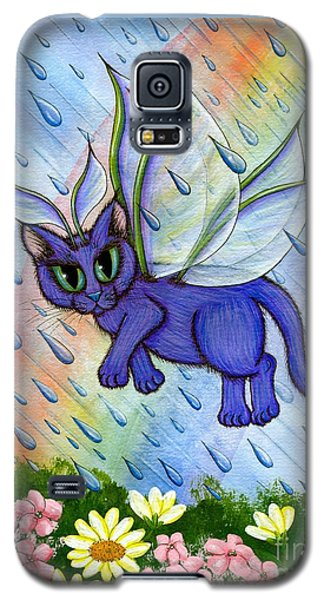 Spring Showers Fairy Cat Galaxy S5 Case by Carrie Hawks