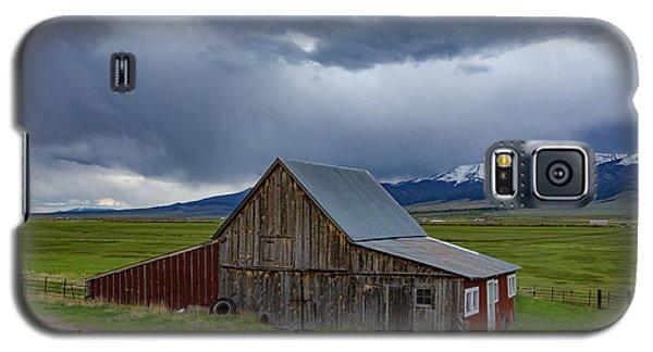 Sangre De Cristo Galaxy S5 Case - Spring Storm Looms Above The Wet Mountain Valley by Bridget Calip