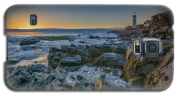 Spring Sunrise At Portland Head Galaxy S5 Case by Rick Berk