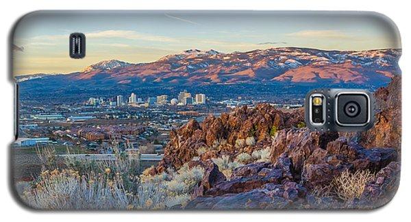 Spring Sunrise Overlooking Reno Nevada Galaxy S5 Case