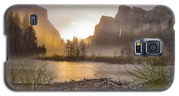 Galaxy S5 Case featuring the photograph Spring Sunrise Valley View Yosemite National Park  by Scott McGuire