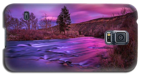 Galaxy S5 Case featuring the photograph Spring Sunset Along The Truckee River Reno Nevada by Scott McGuire