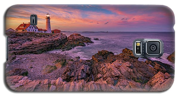 Spring Sunset At Portland Head Lighthouse Galaxy S5 Case by Rick Berk