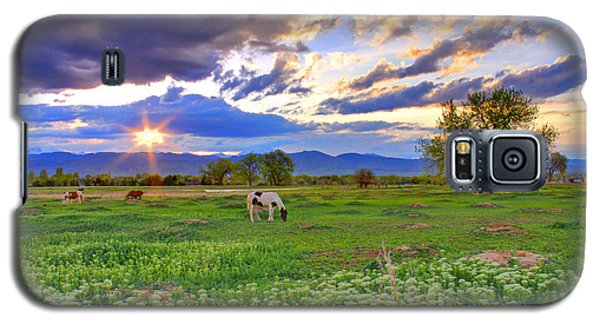 Spring Sunset Over The Rockies Galaxy S5 Case by Scott Mahon