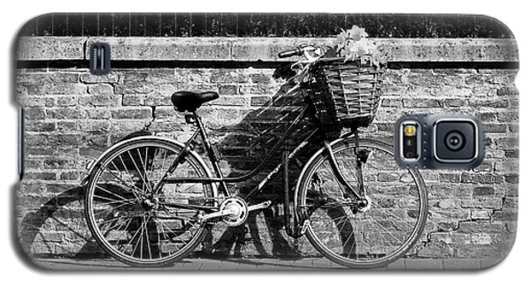 Galaxy S5 Case featuring the photograph Spring Sunshine And Shadows In Black And White by Gill Billington