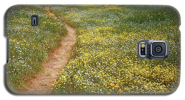 Galaxy S5 Case featuring the photograph Spring Trail Through A Sea Of Wildflowers At Diamond Lake In California by Jetson Nguyen