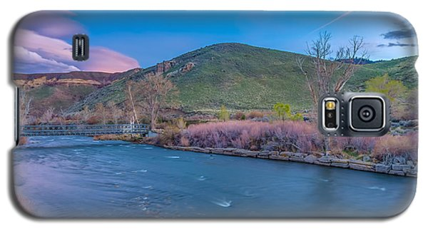 Galaxy S5 Case featuring the photograph Spring Twilight Along The Truckee River Reno Nevada by Scott McGuire