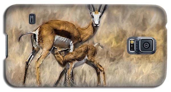Springbok Mom And Calf Galaxy S5 Case