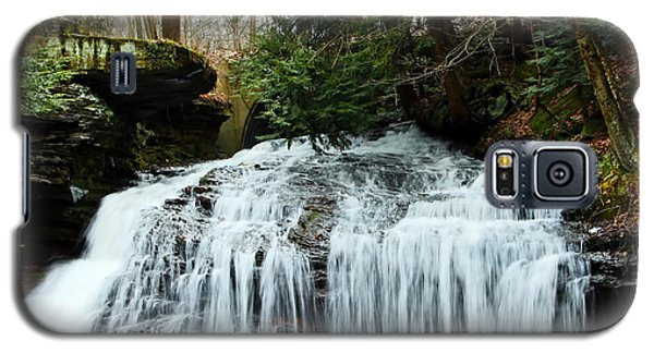 Galaxy S5 Case featuring the photograph Springfield Falls by Skip Tribby