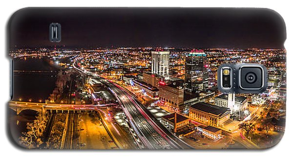 Springfield Massachusetts Night Long Exposure Panorama Galaxy S5 Case by Petr Hejl