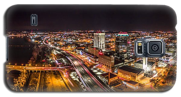 Galaxy S5 Case featuring the photograph Springfield Massachusetts Night Long Exposure Panorama by Petr Hejl