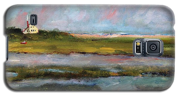 Galaxy S5 Case featuring the painting Springtime In The Marsh by Michael Helfen