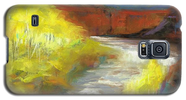 Galaxy S5 Case featuring the painting Springtime In The Rockies by Frances Marino