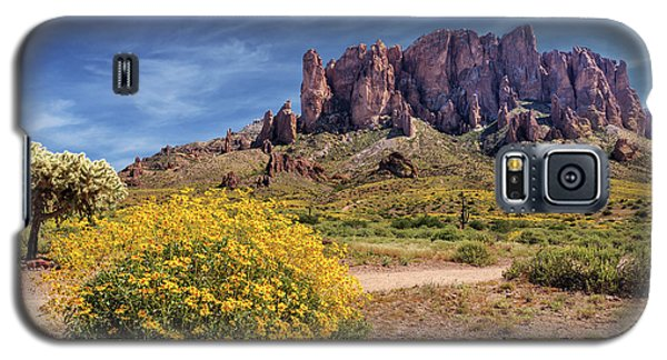 Galaxy S5 Case featuring the photograph Springtime In The Superstition Mountains by James Eddy