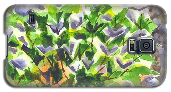 Galaxy S5 Case featuring the painting Springtime Lilac Abstraction by Kip DeVore