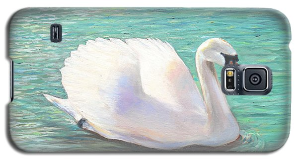 Galaxy S5 Case featuring the painting Springtime On The River by Elizabeth Lock