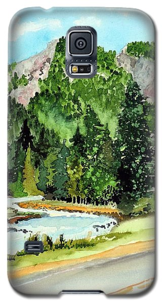 Galaxy S5 Case featuring the painting Springtime Poudre Canyon by Tom Riggs