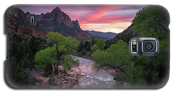 Springtime Sunset At Zion National Park Galaxy S5 Case