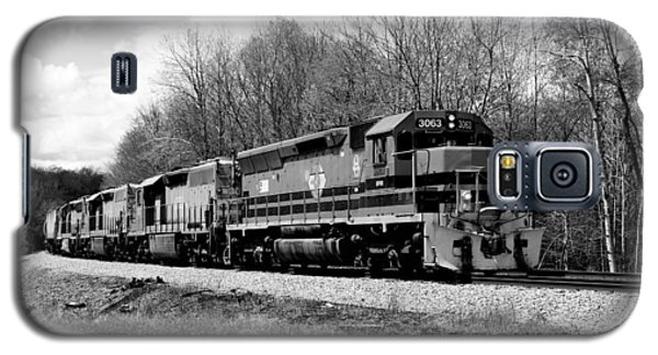 Sprintime Train In Black And White Galaxy S5 Case