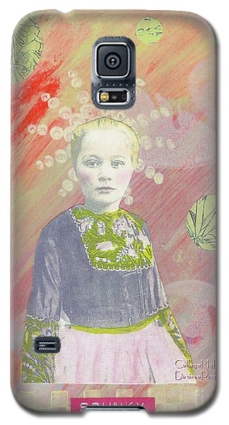 Galaxy S5 Case featuring the mixed media Spunky Got Funky by Desiree Paquette