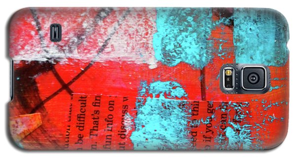 Galaxy S5 Case featuring the mixed media Square Collage No. 10 by Nancy Merkle