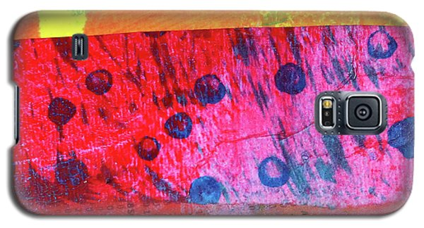 Galaxy S5 Case featuring the painting Square Collage No. 12 by Nancy Merkle