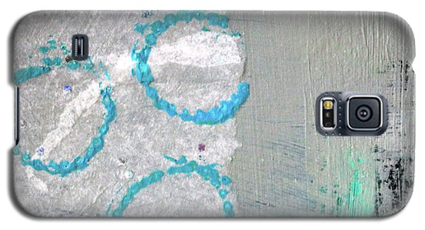Galaxy S5 Case featuring the painting Square Collage No. 6 by Nancy Merkle
