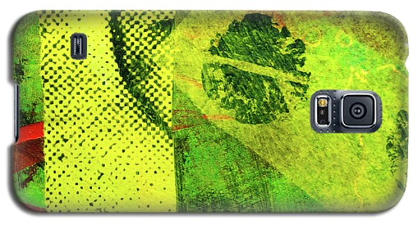Galaxy S5 Case featuring the mixed media Square Collage No. 8 by Nancy Merkle